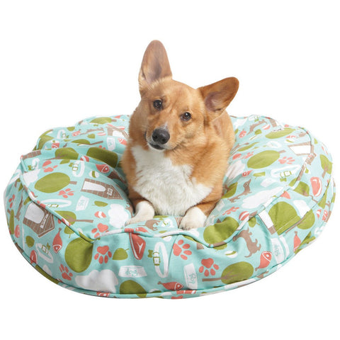 "Bleecker Street Dog Bed Duvet - Rocco's Pets  - Dog Bed - Molly Mutt Round (36""x5"") - 4"