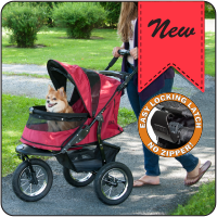 Jogger NO-ZIP Pet Stroller - Up to 70 lbs - Rocco's Pets  - Strollers - Pet Gear  - 1