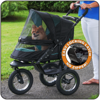 NV Pet Stroller with Pad - Up to 70 lbs - Rocco's Pets  - Strollers - Pet Gear Skyline - 1