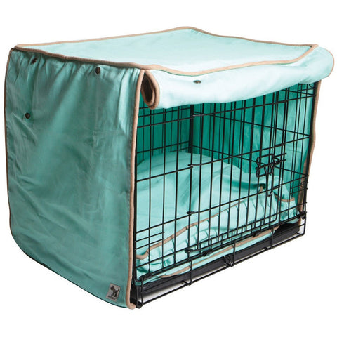 "Nightswimming Dog Crate Cover - Rocco's Pets  - Crate Cover  - Molly Mutt Small (24"" x 21"" x 18"") - 1"