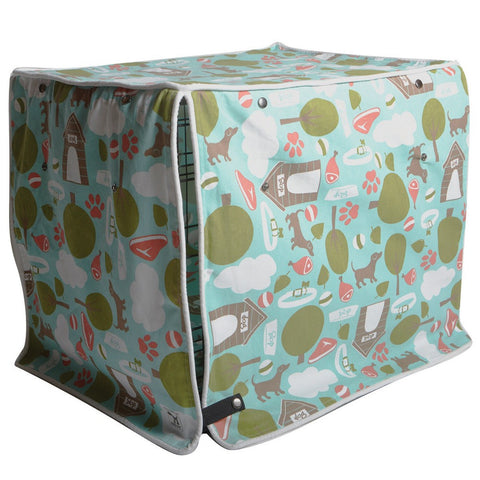 Dog Crate Cover Bleecker Street - Rocco's Pets  - Crate Cover  - Molly Mutt  - 1