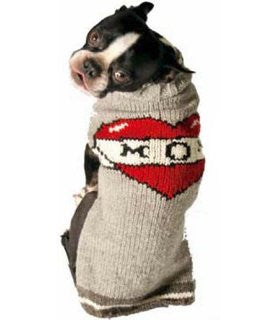 Handmade Tattooed Mom Organic Wool Dog Sweater - Rocco's Pets  - Sweater - Rocco's Pets