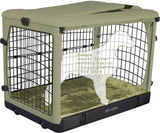 "Deluxe Steel Crate ""The Other Door®"" Sage Green"