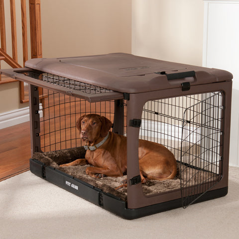 "Deluxe Steel Crate ""The Other Door®"" Brown w/Wheels"