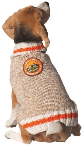 Chilly Dog Adventure Club Wool Dog Sweater