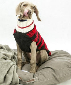 Handmade Buffalo Plaid Organic Wool Dog Sweater