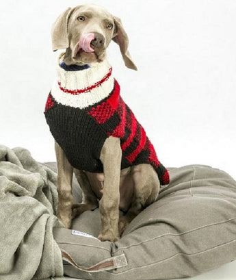 Chilly Dog Buffalo Plaid Organic Wool Dog Sweater