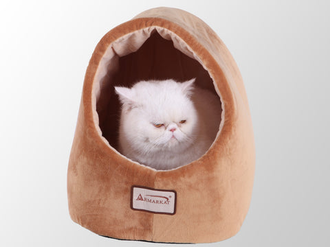 Armarkat Cave Shape Pet Bed Brown