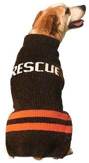 Chilly Dog Rescue Wool Dog Sweater