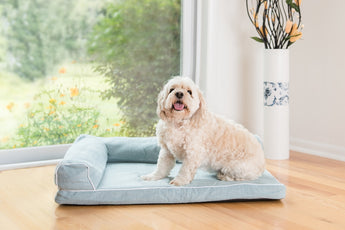 Armarkat Bolster Pet Bed Blue