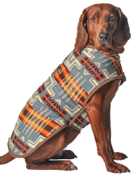 Chilly Dog Denim Southwest Organic Wool Dog Coat Blanket