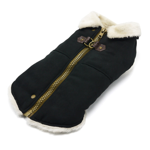 Furry Runner Dog Coat Black