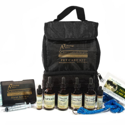 Natural & Organic Cat Health Care Kit - Rocco's Pets  - Homeopathic Pet Remedy - Amber Technology