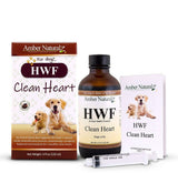HWF - 100% Organic & Natural for Heartworm - Rocco's Pets  - Homeopathic Pet Remedy - Amber Technology 16 oz. - 2