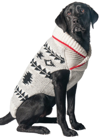Chilly Dog Jackson Grey Southwest Wool Dog Sweater