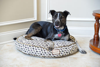 Armarkat Round Print Canvas Pet Bed