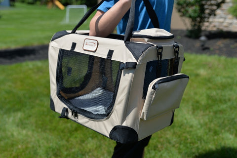 Armarkat Beige Pet Carrier Water Resistant