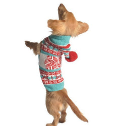 Handmade Peppermint Hoodie Organic Wool Dog Sweater - Rocco's Pets  - Sweater - Rocco's Pets