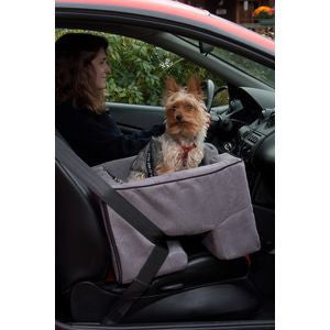 Pet Gear Dog Car Seat Booster Grey Charcoal Suede Lookout Safety 1st Roccos Pets