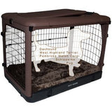 "Deluxe Steel Crate ""The Other Door®"" Chocolate - Rocco's Pets  - Crate - Pet Gear Capacity 90 lbs (42""L x28""W x28""H) - 5"
