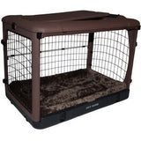"Deluxe Steel Crate ""The Other Door®"" Chocolate - Rocco's Pets  - Crate - Pet Gear Capacity 30 lbs.(27""L x18.25""W x21.75""H) - 1"