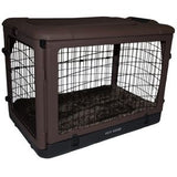 "Deluxe Steel Crate ""The Other Door®"" Chocolate - Rocco's Pets  - Crate - Pet Gear Capacity 70 lbs. (36.5""L x24.5""W x27.5""H) - 2"