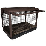 "Deluxe Steel Crate ""The Other Door®"" Chocolate - Rocco's Pets  - Crate - Pet Gear  - 3"