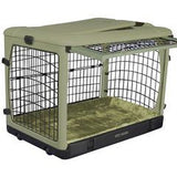 "Deluxe Steel Crate ""The Other Door®"" Sage Green - Rocco's Pets  - Crate - Pet Gear  - 1"