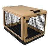 "Deluxe Steel Crate ""The Other Door®"" Tan - Rocco's Pets  - Crate - Pet Gear  - 3"