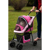SPORT Pet Stroller - Up to 20 lbs - Rocco's Pets  - Strollers - Pet Gear Sport Pink - 1