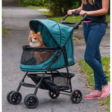 Happy Trails NO-ZIP Pet Stroller - Up to 30 lbs - Rocco's Pets  - Strollers - Pet Gear Emerald - 2