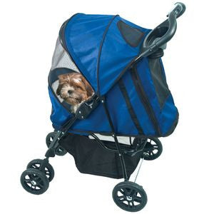 Happy Trails Stroller - Up to 30 lbs. - Rocco's Pets  - Strollers - Pet Gear Blue - 6