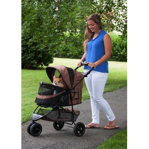 Special Edition NO-ZIP Pet Stroller - Up to 30 lbs - Rocco's Pets  - Strollers - Pet Gear Chocolate - 4