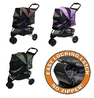 Special Edition NO-ZIP Pet Stroller - Up to 30 lbs - Rocco's Pets  - Strollers - Pet Gear  - 1