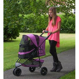 Special Edition NO-ZIP Pet Stroller - Up to 30 lbs - Rocco's Pets  - Strollers - Pet Gear Orchid - 3