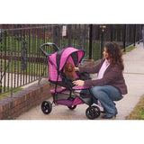 Special Edition Pet Stroller - Up to 45 lbs - Rocco's Pets  - Strollers - Pet Gear Raspberry - 4