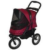 Jogger NO-ZIP Pet Stroller - Up to 70 lbs - Rocco's Pets  - Strollers - Pet Gear Rugged Red - 4