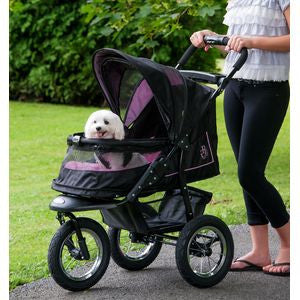 NV Pet Stroller with Pad - Up to 70 lbs - Rocco's Pets  - Strollers - Pet Gear Rose - 2