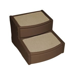 "Easy Step - Pet Stair Extra Wide  20"" - Rocco's Pets  - Steps - Pet Gear Medium - Up to 200lbs. 2 Steps / Chocolate - 1"