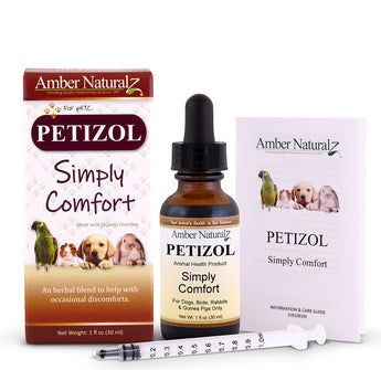 Petizol Pets Pain Formula Organic Herbal aid for Aches, Pain, Fever and Inflamation
