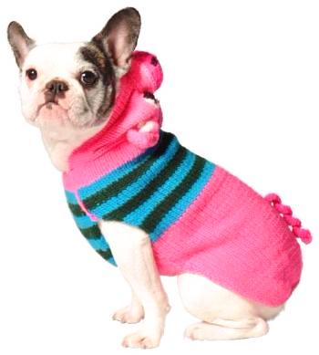 Pink Piggy Girly Organic Wool Dog Sweater