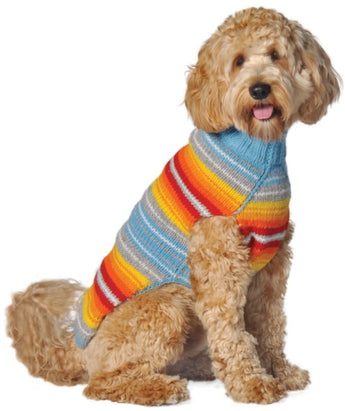 Chilly Dog Serape Southwest Wool Dog Sweater
