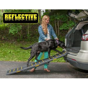 Full Length  Tri-Fold Pet Ramp - Reflective - Up to 200 lbs - Rocco's Pets  - Ramps - Pet Gear Default - 1