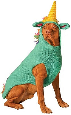 Chilly Dog Unicorn Hoodie Organic Wool Dog Sweater