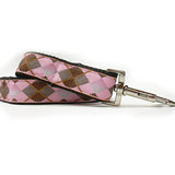 Pink Argyle Adjustable Nylon Dog Leash - Rocco's Pets  - Leashes - Diva Dog  - 1