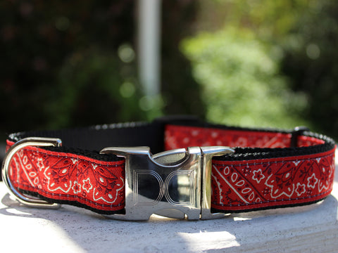 Bandana Adjustable Ribbon Dog Collar