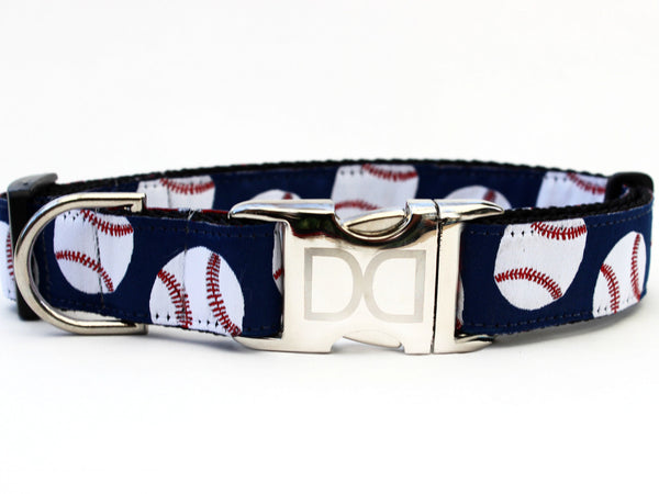 Baseball Adjustable Nylon Dog Collar - Rocco's Pets  - Collars - Diva Dog