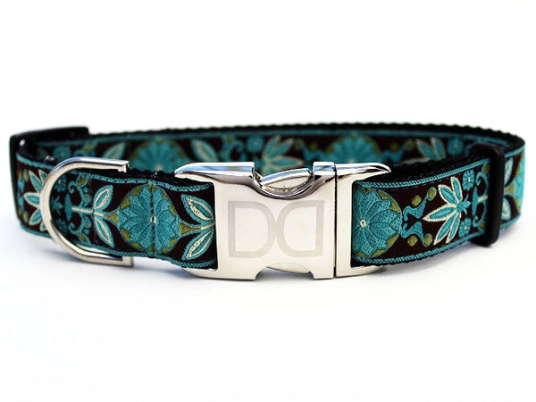 Boho Peacock Adjustable Nylon Dog Collar - Rocco's Pets  - Collars - Diva Dog Teacup - 1