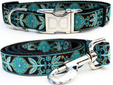 Boho Peacock Adjustable Nylon Dog Collar - Rocco's Pets  - Collars - Diva Dog  - 2