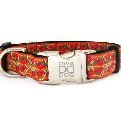 Bombay Adjustable Nylon Dog Collar - Rocco's Pets  - Collars - Diva Dog Teacup - 1